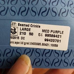 Simply Vera Vera Wang Tops - NWT Vera Wang Purple Crinkle Blouse 61520-1d4